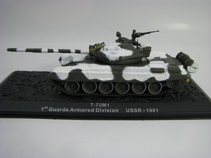 Tank T-72M1 Guards Armored Division USSR 1981 1:72 Atlas Edition
